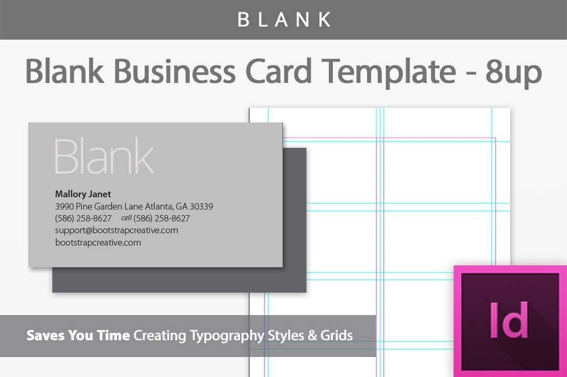 Blank Business Card Indesign Template Throughout Birthday Card Template Indesign