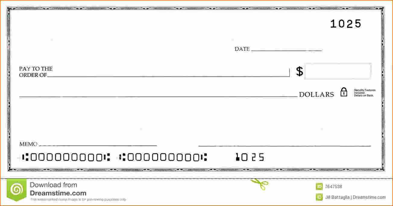 Blank Business Check Template   Template   Business Checks in Blank Cheque Template Uk