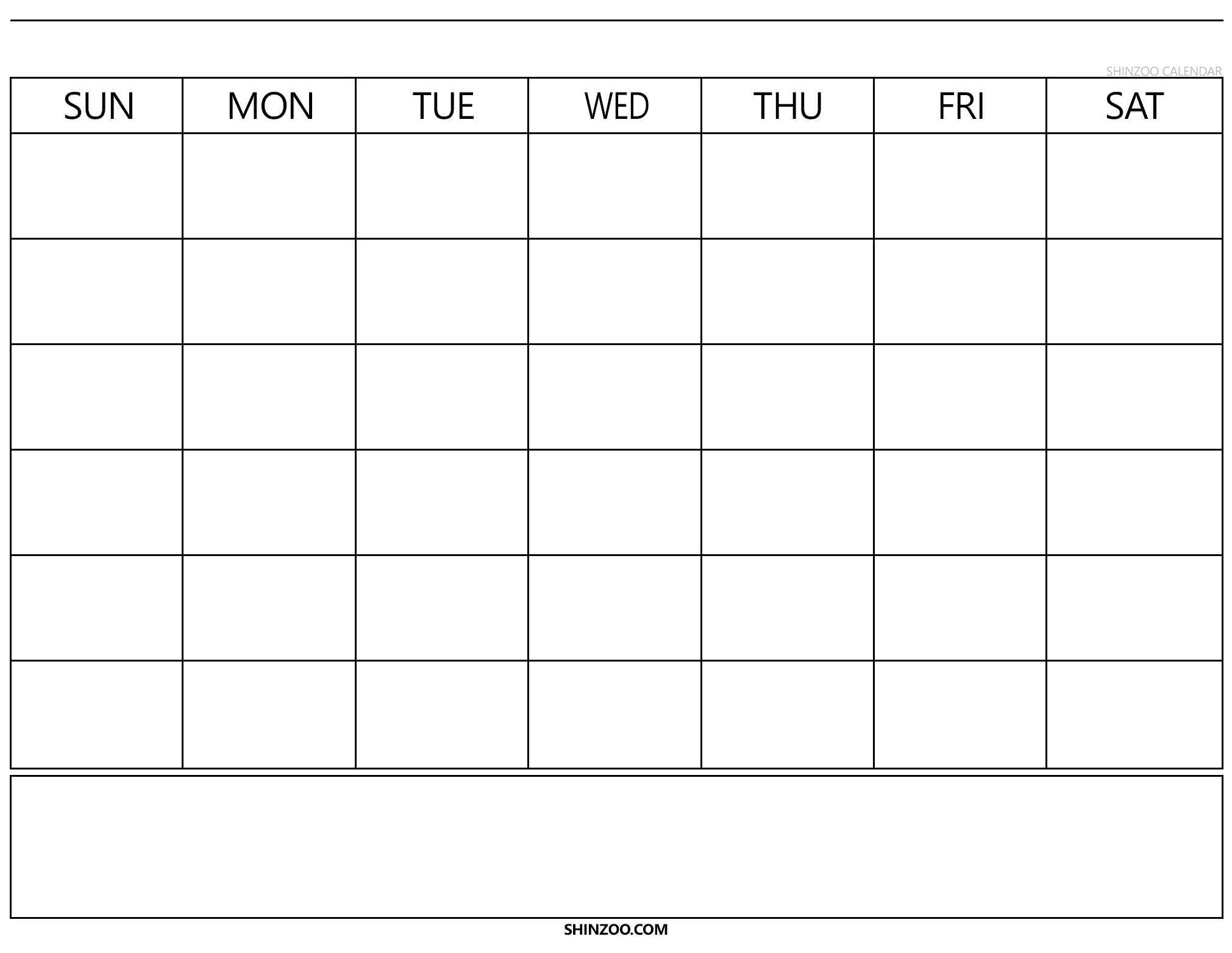 Blank Calendar Template 2019 2020 Printable inside Blank Calender Template