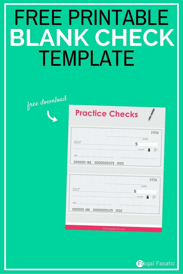 Blank Check Template - Teaching Teens How To Manage Money for Fun Blank Cheque Template