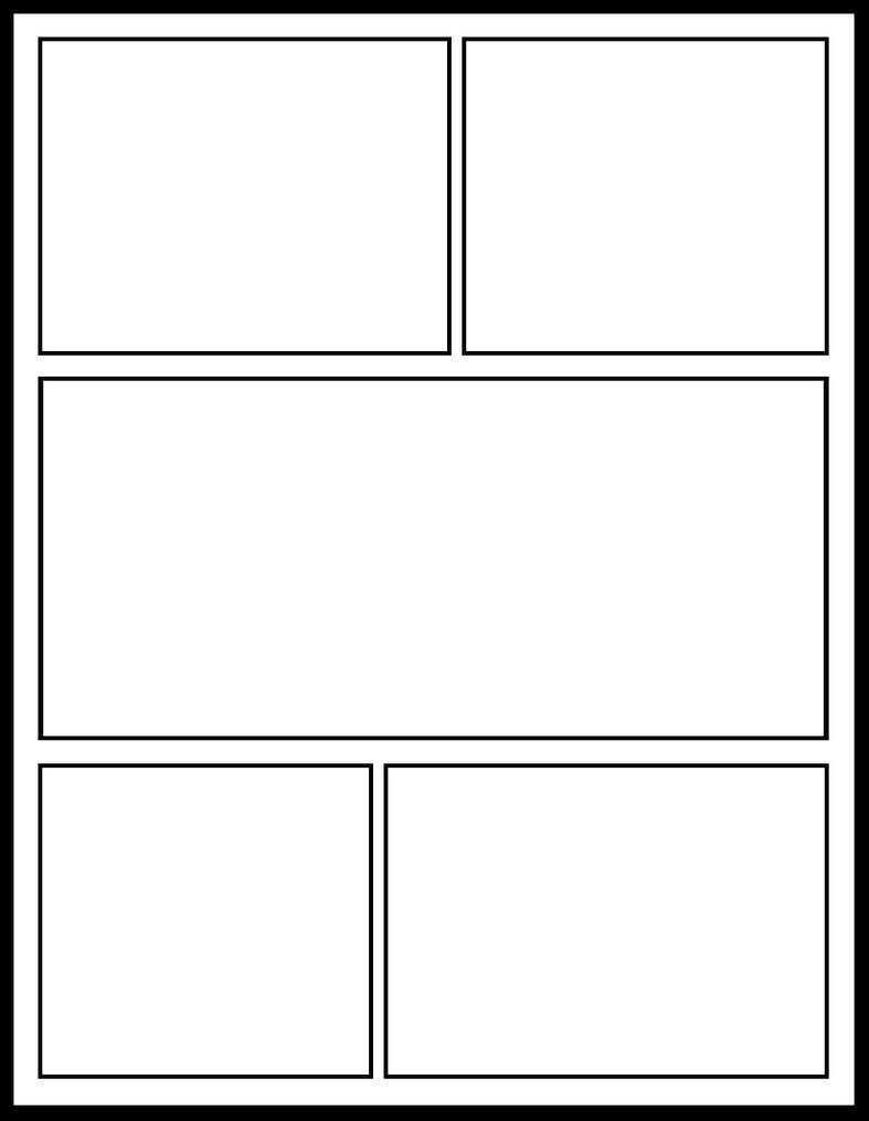 Blank Comic Book Template | Comic Book Template, Blank Comic with Printable Blank Comic Strip Template For Kids