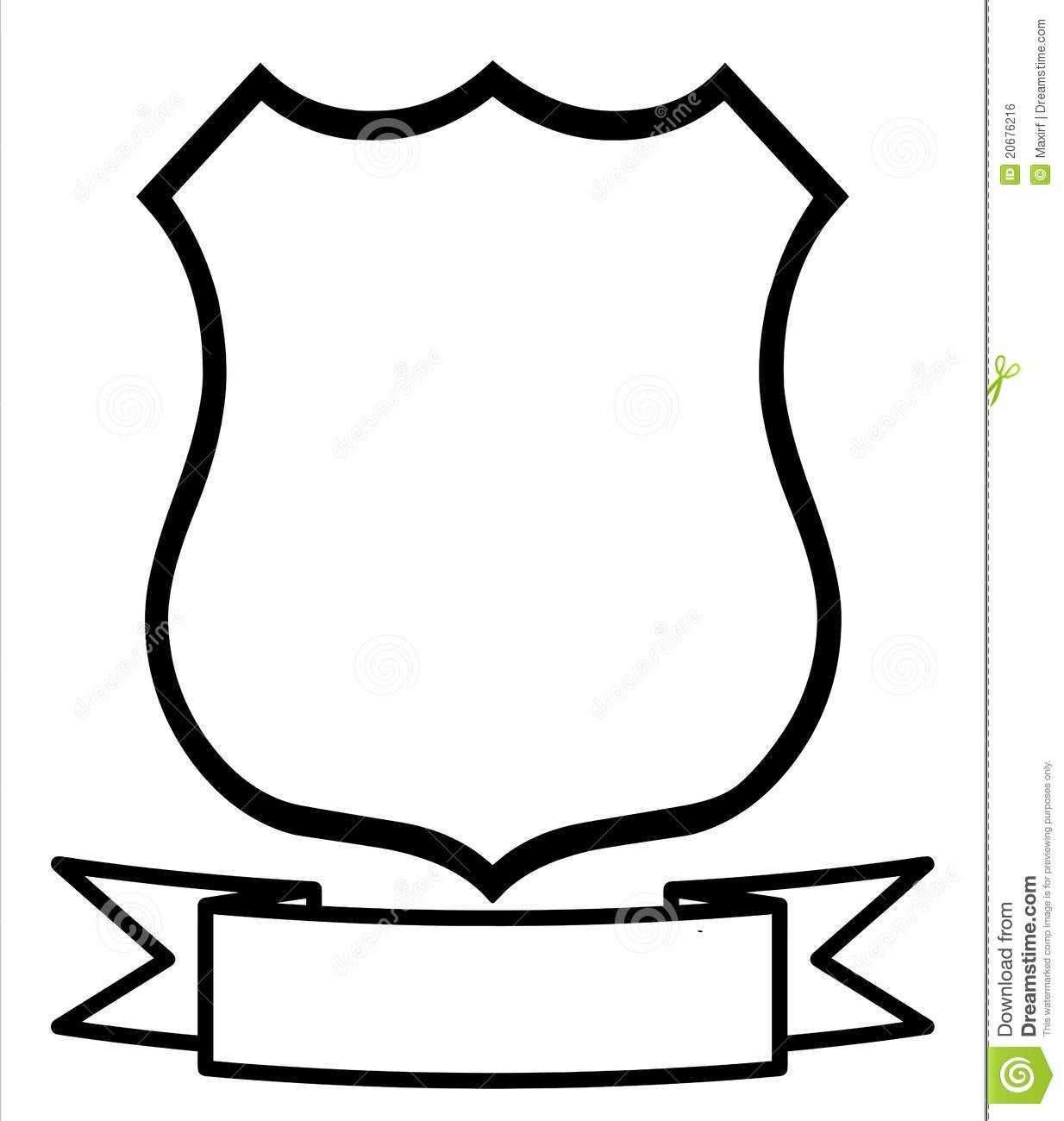 Blank Family C | Shield Template, Clip Art, Coat Of Arms In Blank Shield Template Printable