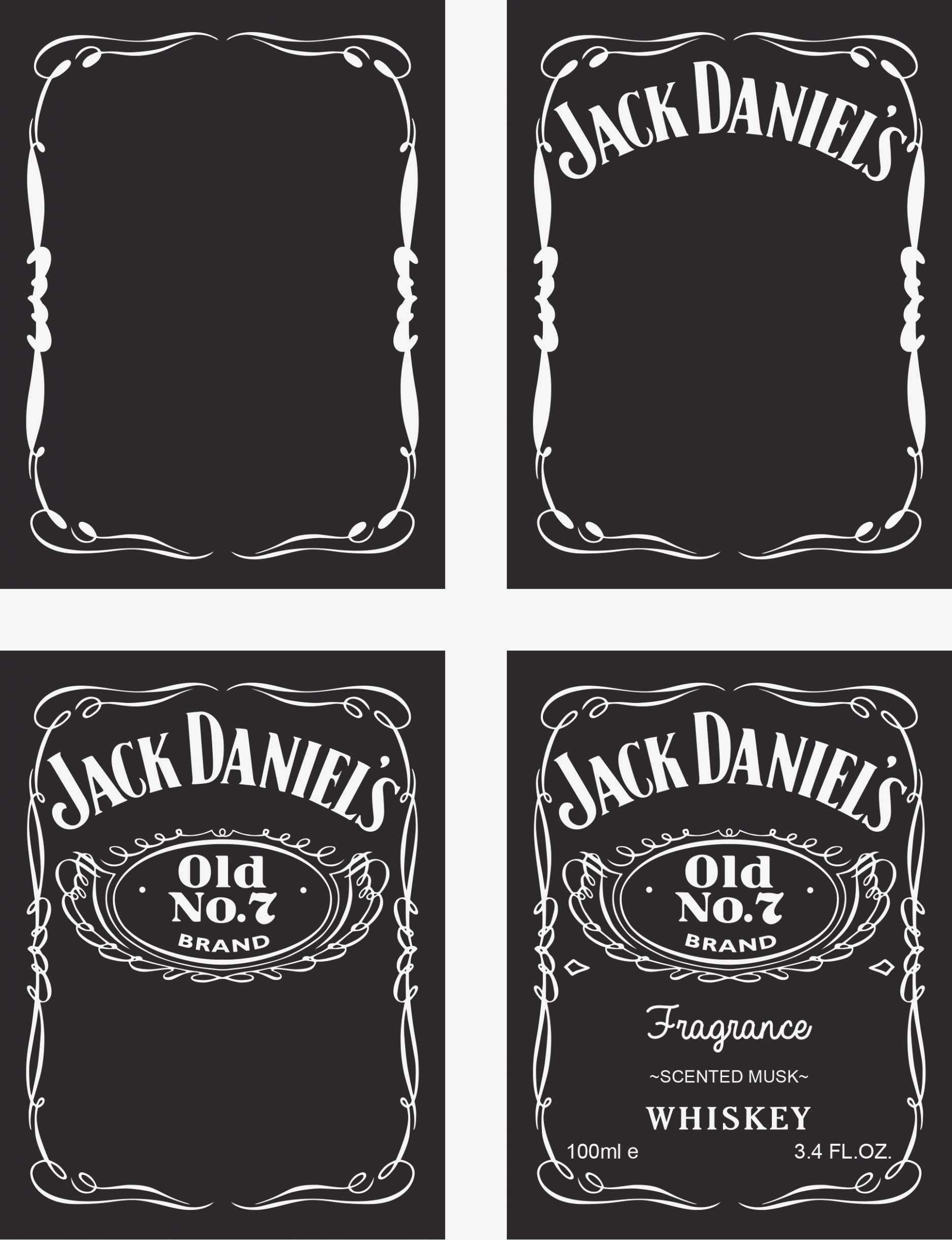 Blank Jack Daniels Label Template - Atlantaauctionco intended for Blank Jack Daniels Label Template