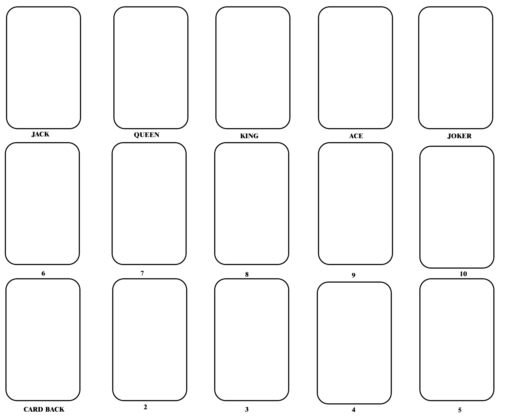 Blank Playing Card Template | Blank Playing Cards, Card With Blank Playing Card Template