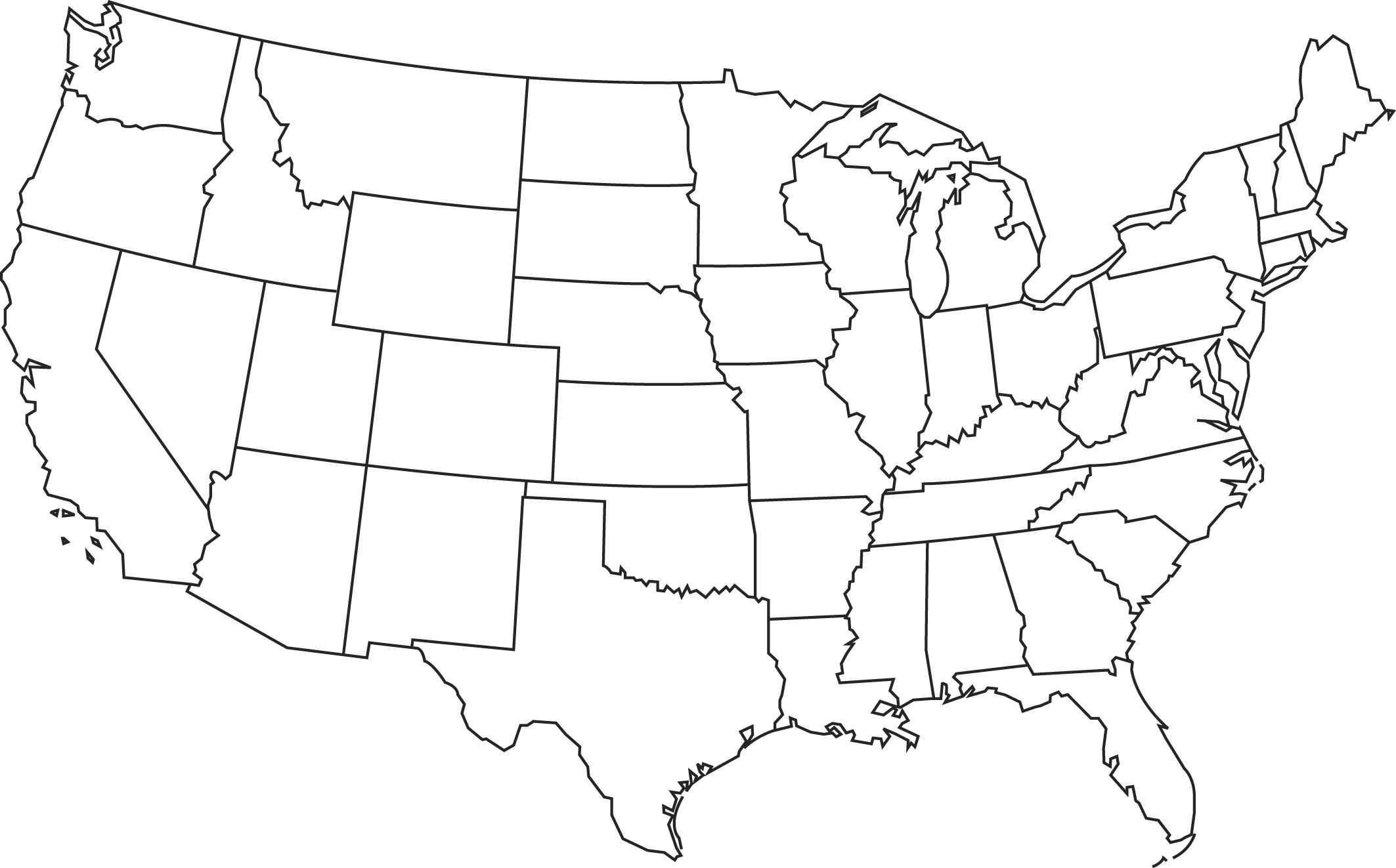 Blank Printable Map Of The Us Clipart Best Clipart Best For United States Map Template Blank