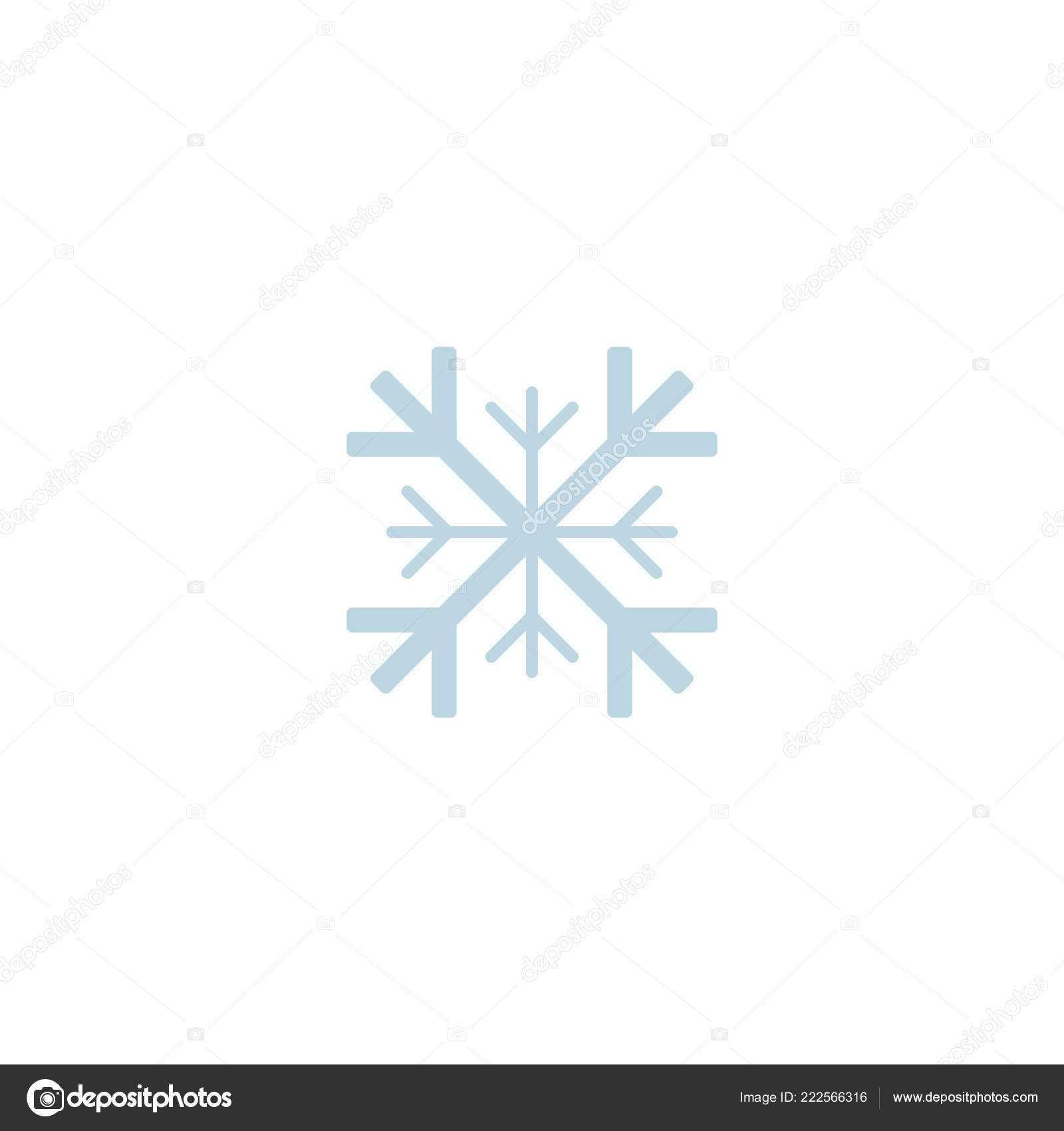 Blank Snowflake Template | Snowflake Icon Template Christmas Throughout Blank Snowflake Template