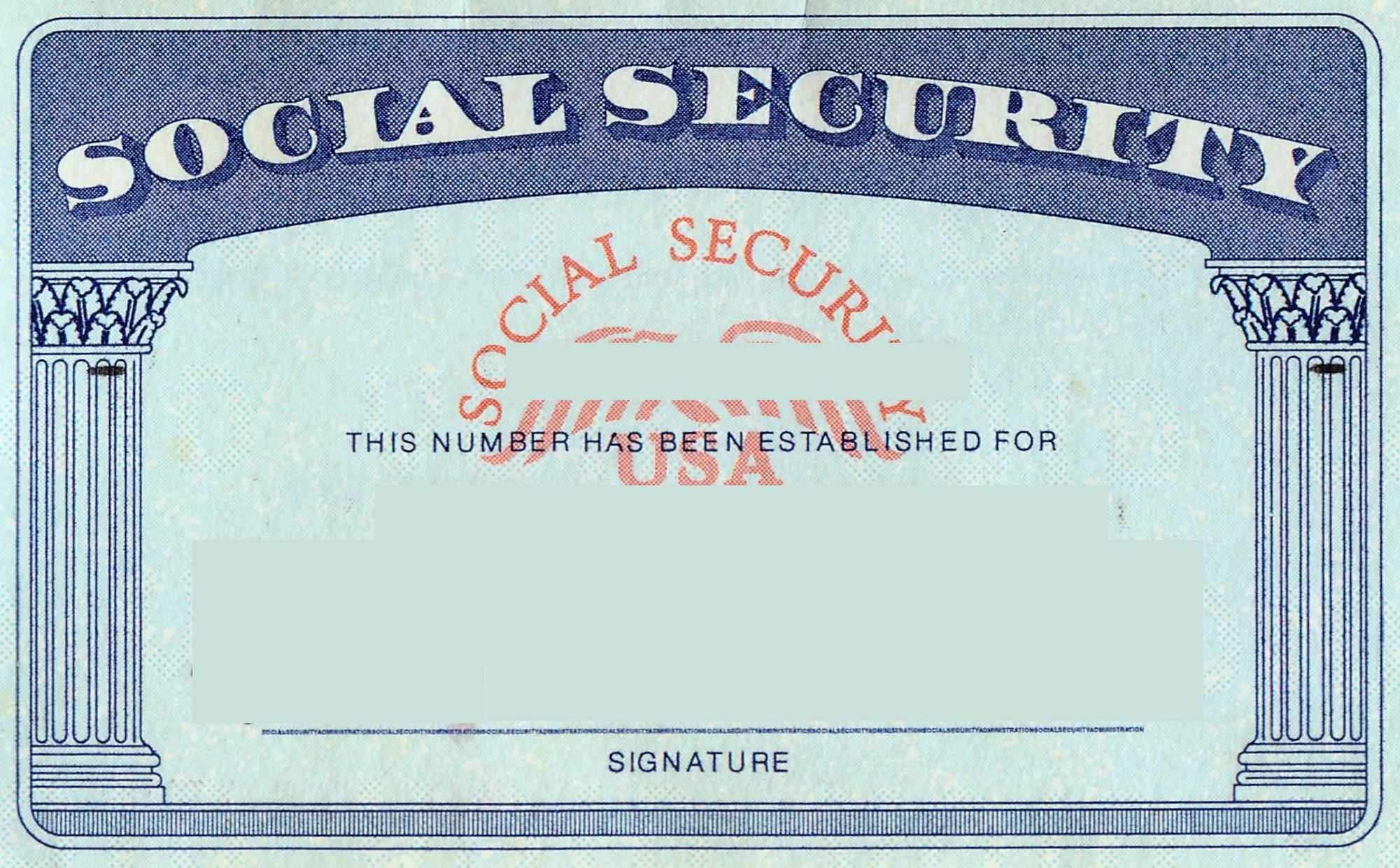 Blank Social Security Card Template | Social Security Card In Blank Social Security Card Template Download