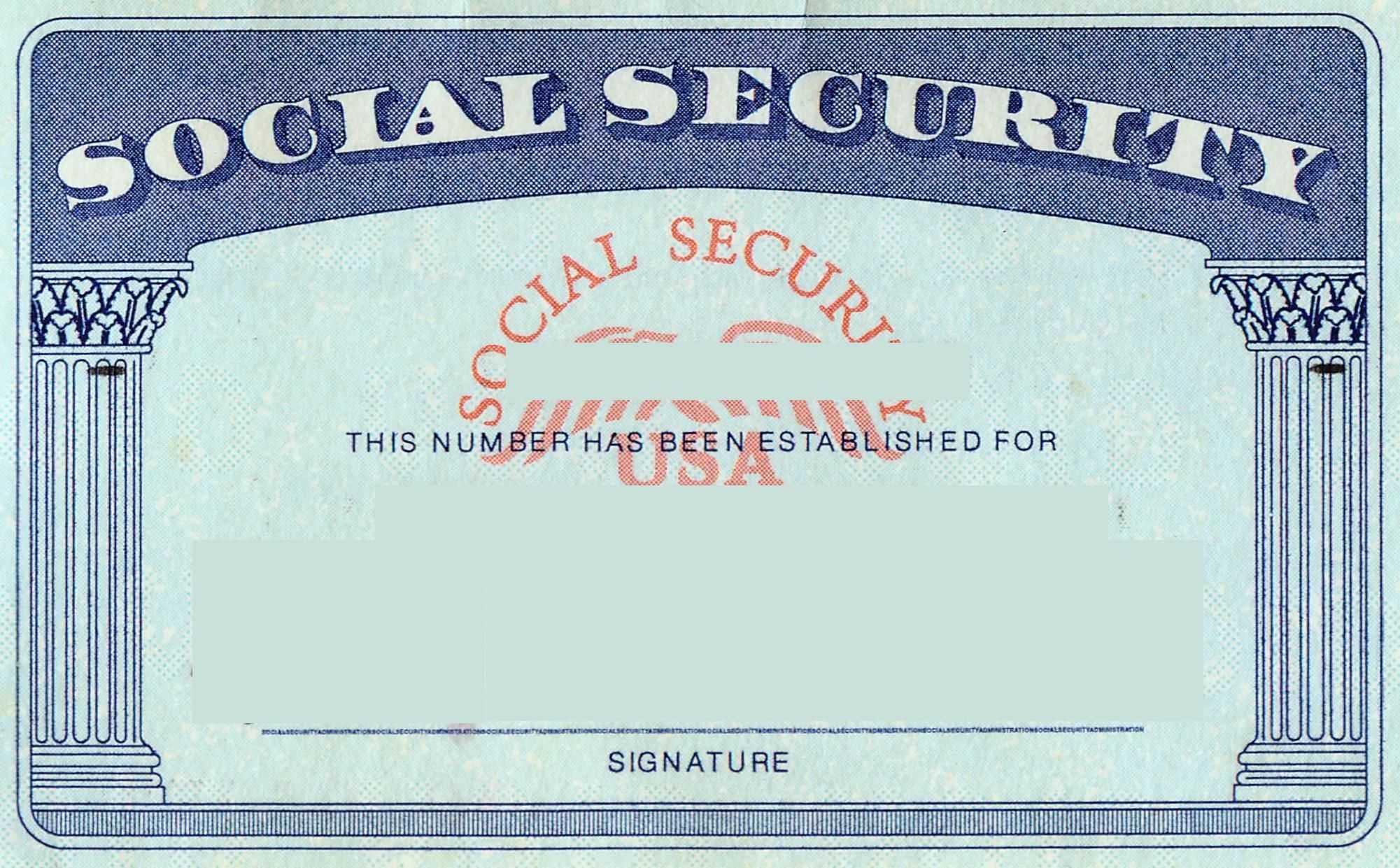 Blank Social Security Card Template | Social Security Card Within Blank Social Security Card Template