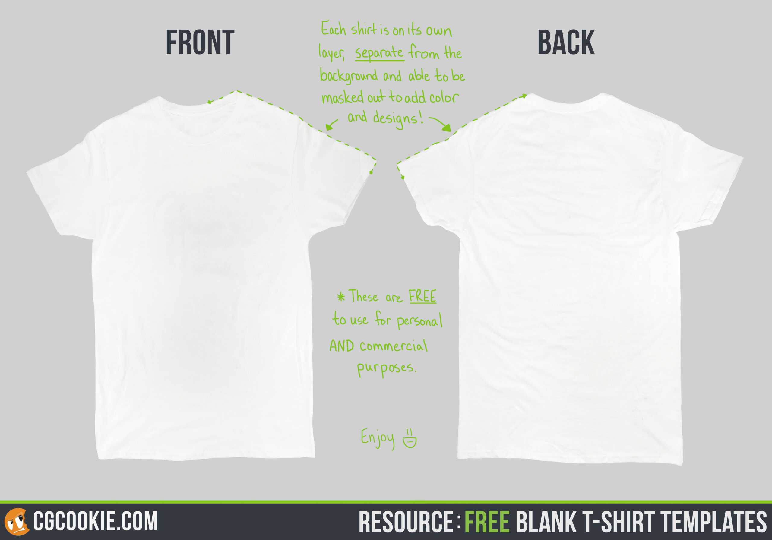 Blank T-Shirt - Cg Cookie intended for Blank T Shirt Design Template Psd