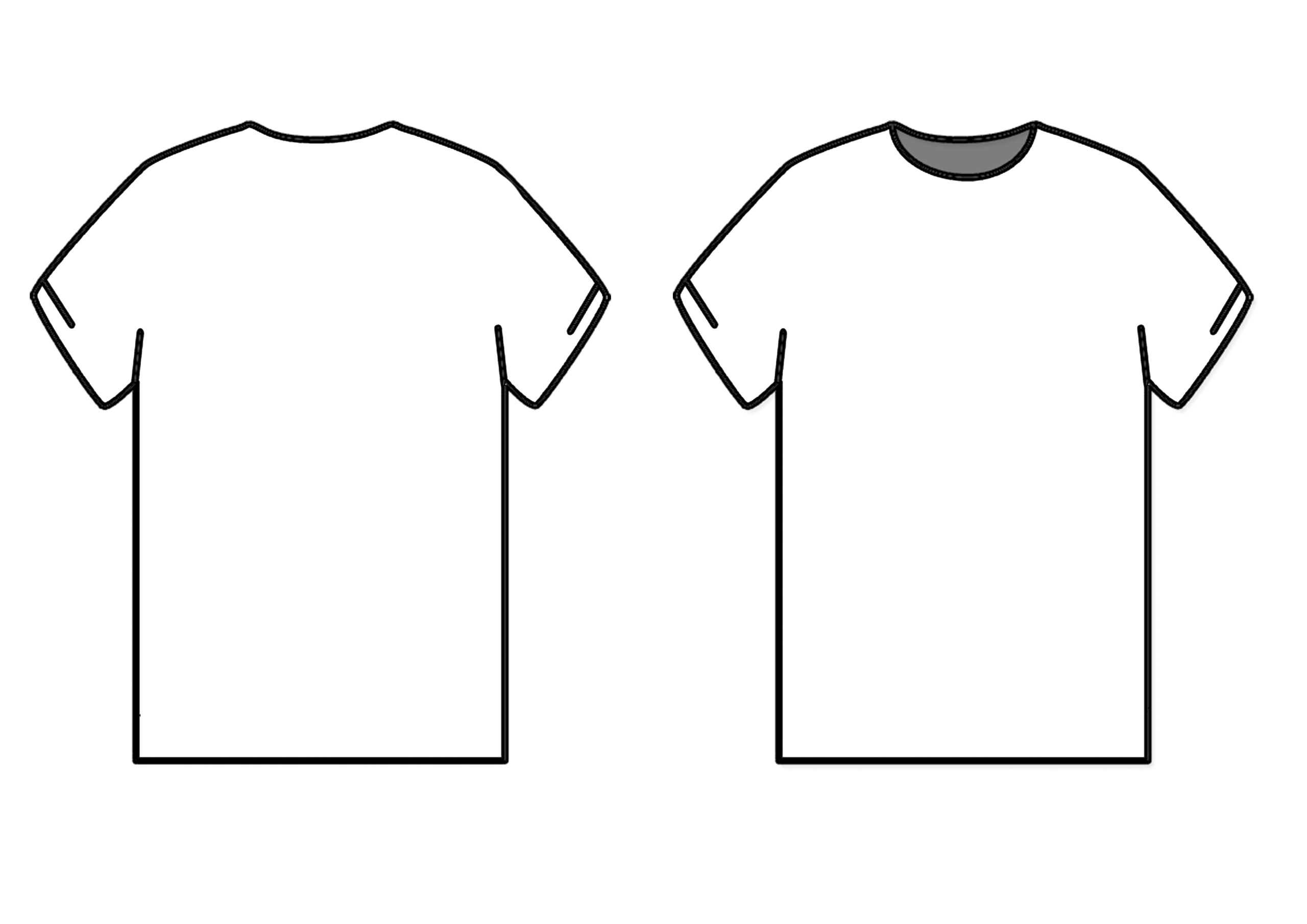 Blank T Shirt Outline | Free Download Best Blank T Shirt for Blank T Shirt Design Template Psd