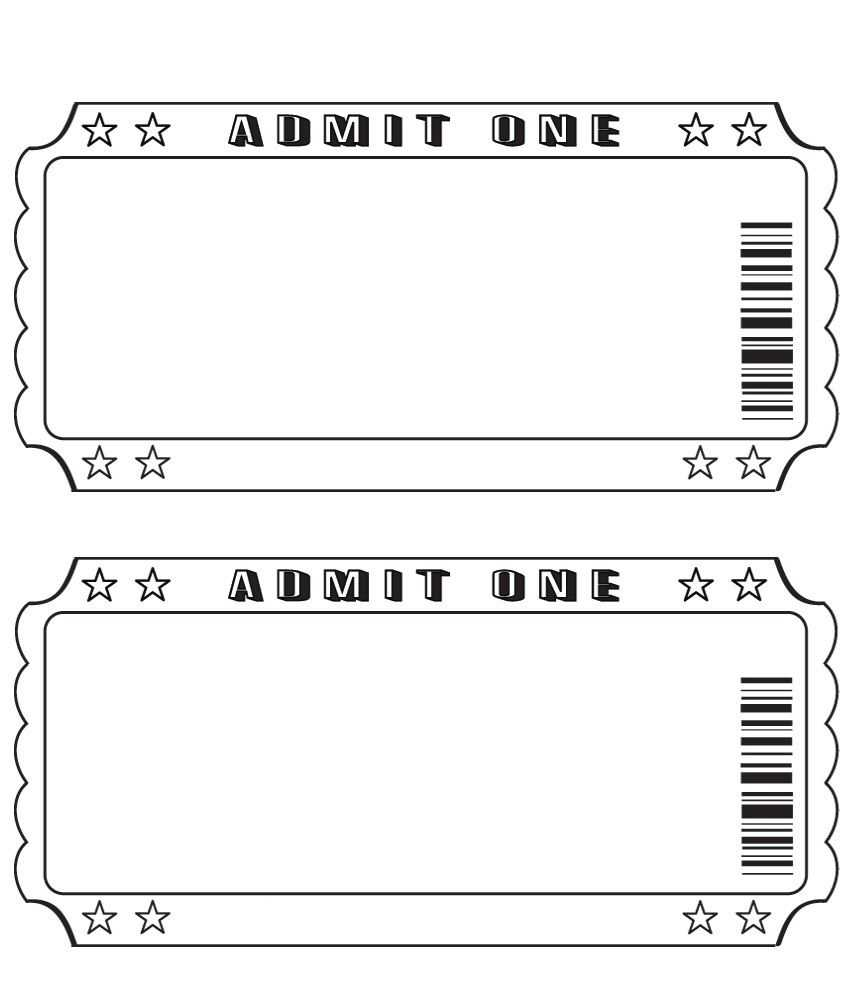 Blank Ticket … | Ticket Template, Printable Tickets, Ticket In Blank Admission Ticket Template