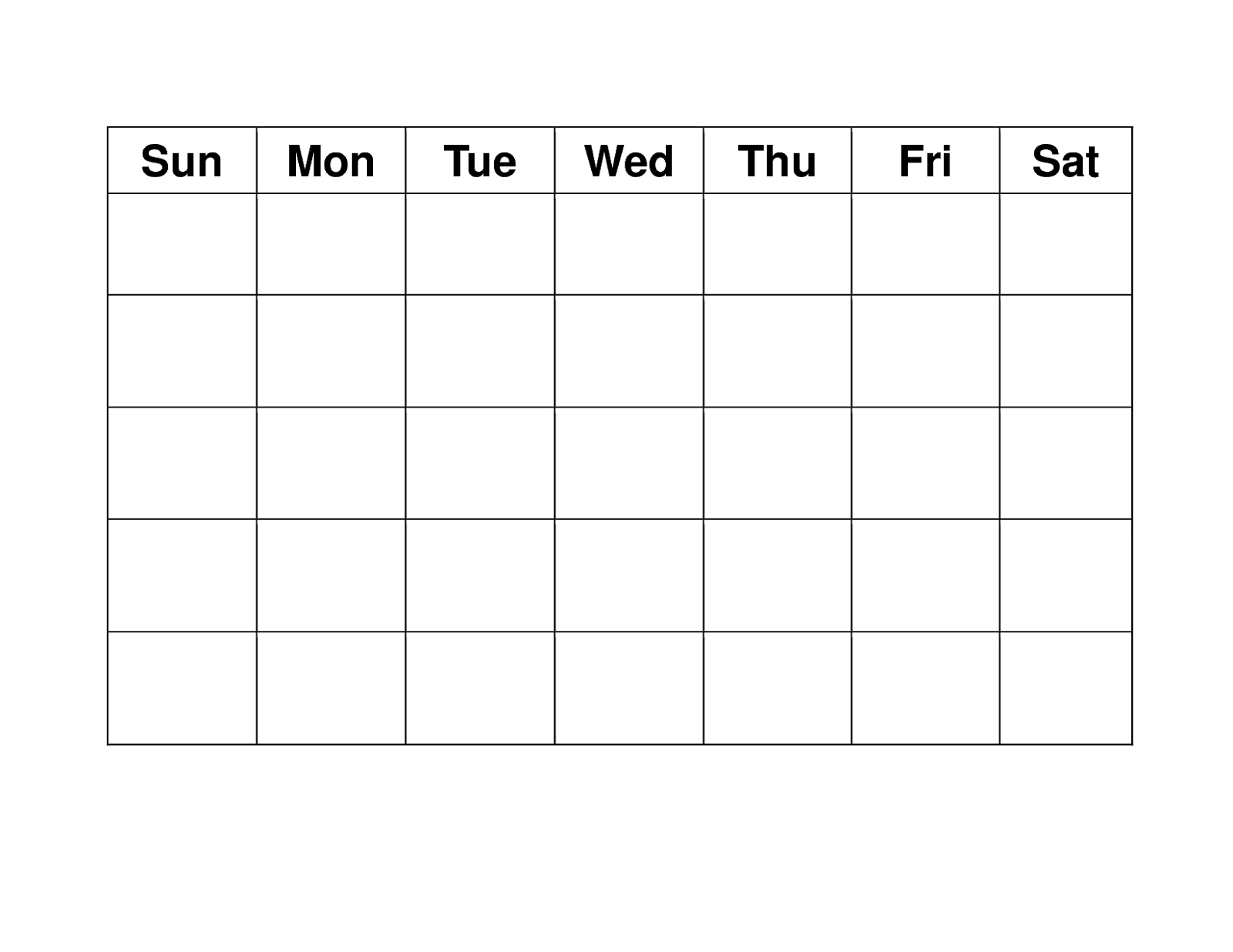 Blank Weekly Calendars Printable | Blank Calendar Template pertaining to Blank Activity Calendar Template