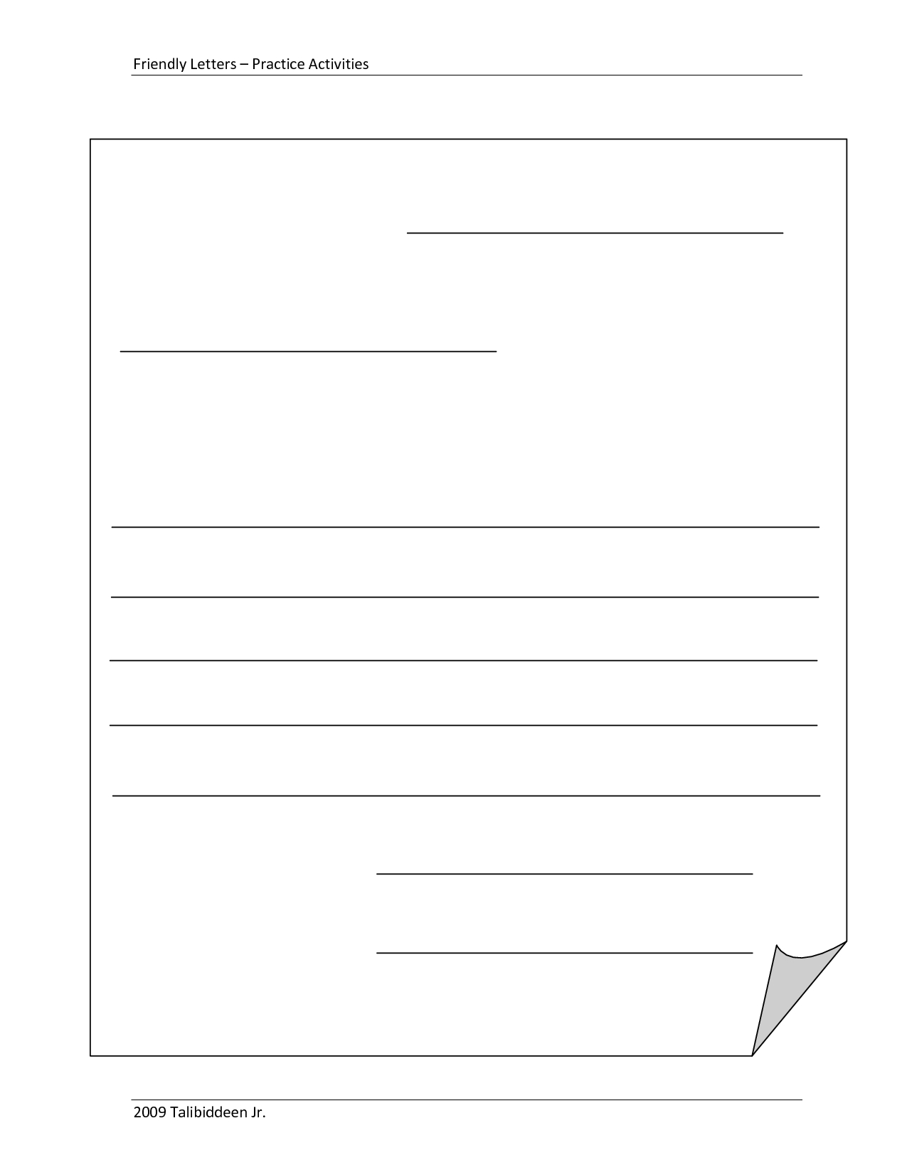 Blank+Letter+Format+Template | Friendly Letter, Letter With Blank Letter Writing Template For Kids