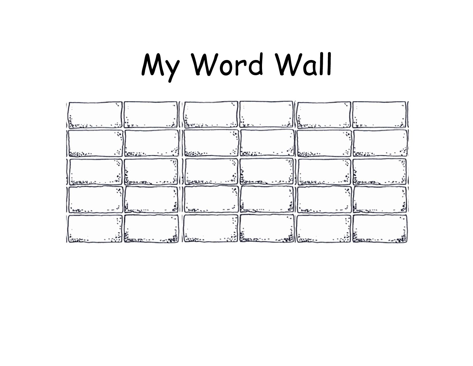 Blank+Printable+Word+Wall+Templates | Templates Printable With Regard To Blank Word Wall Template Free
