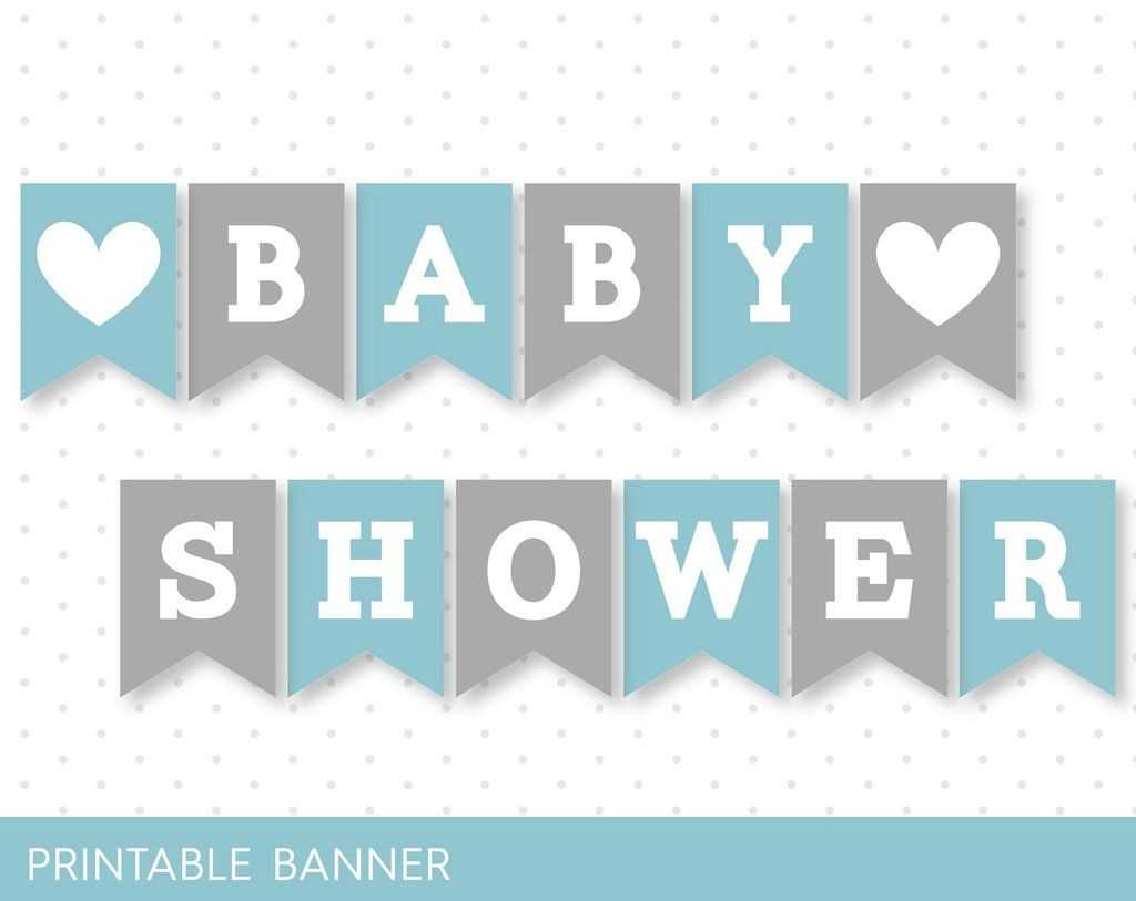 Blue Banner, Grey Banner, Oh Baby Banner, Oh Boy Banner With Regard To Diy Baby Shower Banner Template