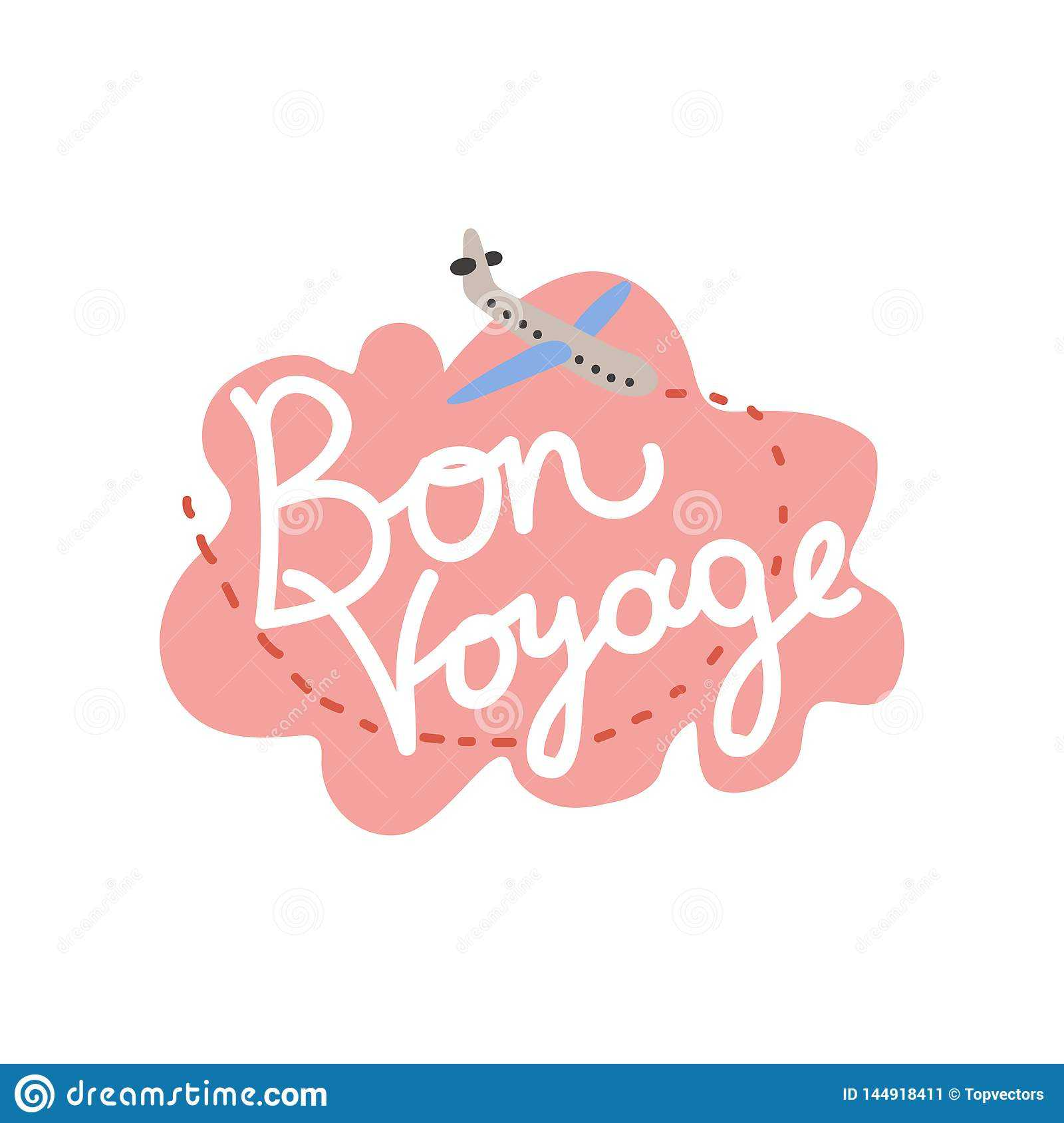 Bon Voyage, Have Nice Trip Banner Template Vector intended for Bon Voyage Card Template