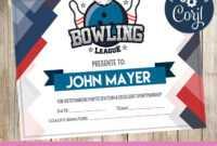 Bowling – Certificate – Printable – 3Grafik   Certificates inside Gymnastics Certificate Template