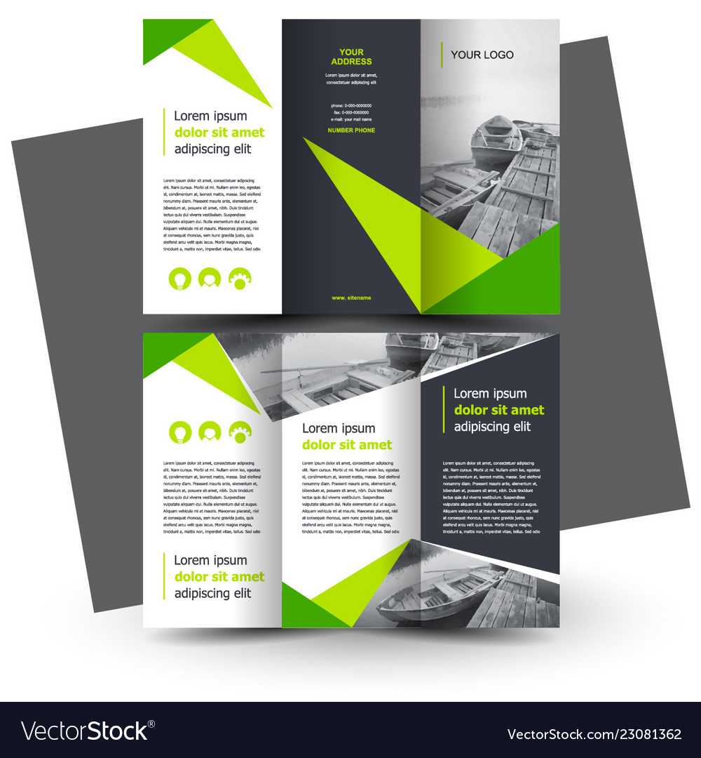 Brochure Design Template Creative Tri Fold Green In E Brochure Design Templates
