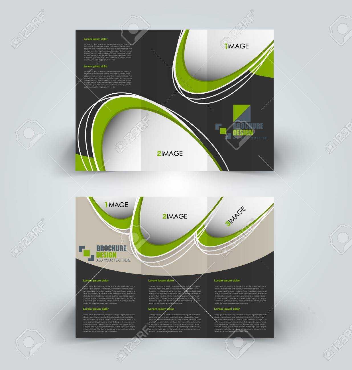 Brochure Template. Business Trifold Flyer. Creative Design Trend.. In Professional Brochure Design Templates