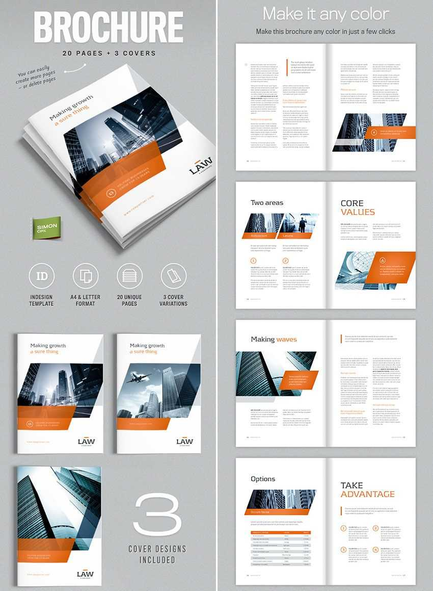 Brochure Template For Indesign - A4 And Letter | Indesign In Brochure Templates Free Download Indesign