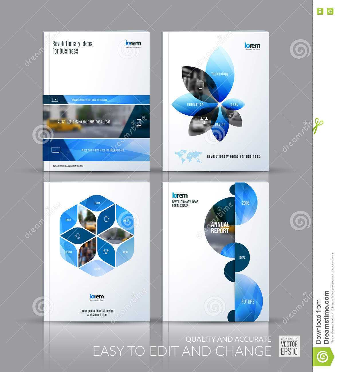 Brochure Template Layout Collection, Cover Design Annual throughout Half Page Brochure Template