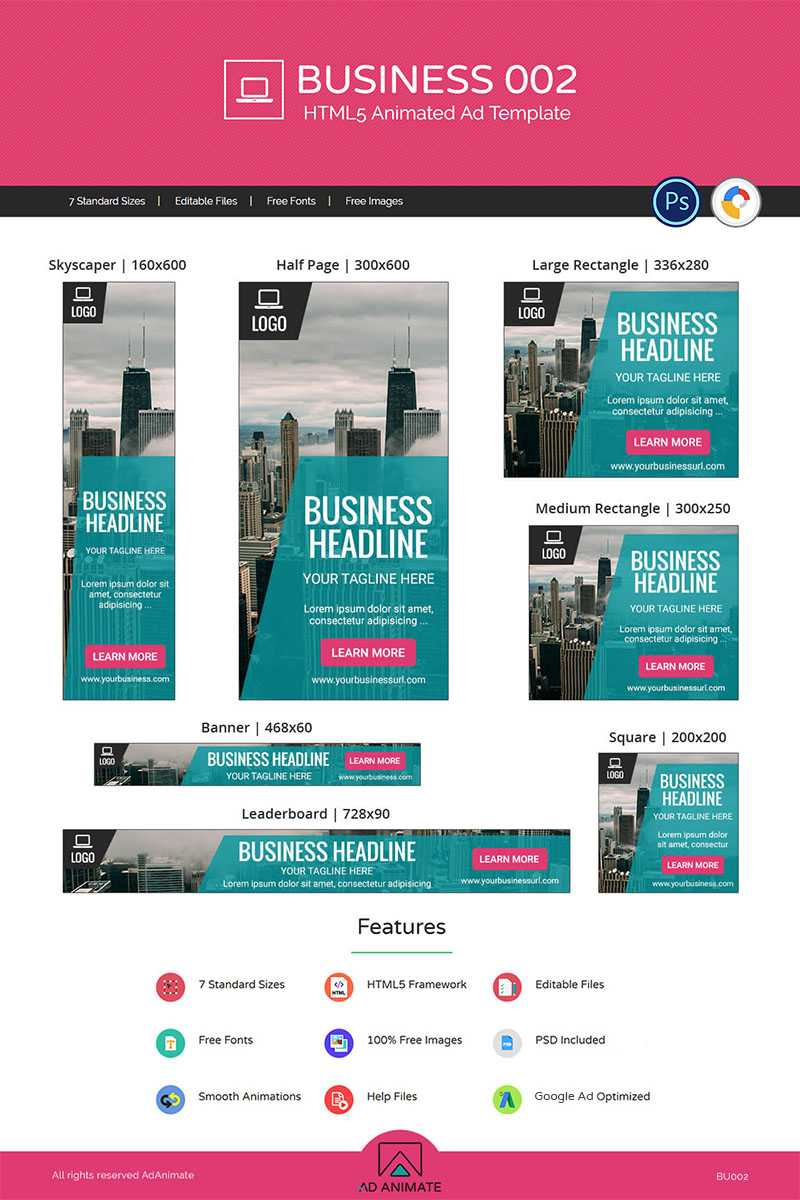 Business 002 – Html5 Ad Animated Banner Within Animated Banner Templates