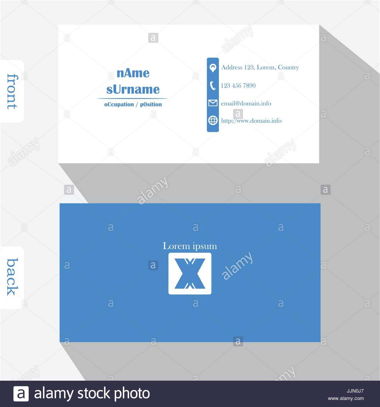 Business Card Back Design Side Template Microsoft Word Front Pertaining To Front And Back Business Card Template Word