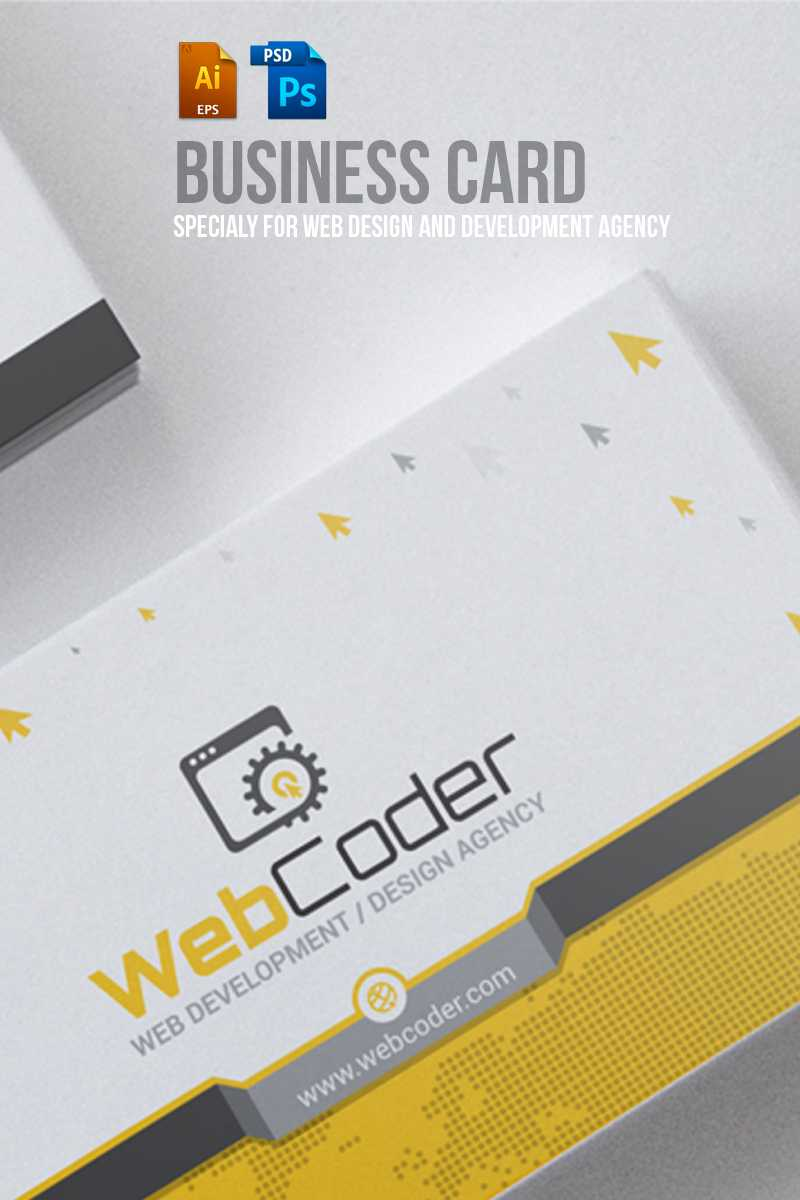Business Card Design For Web Design And Developer Psd Template inside Web Design Business Cards Templates