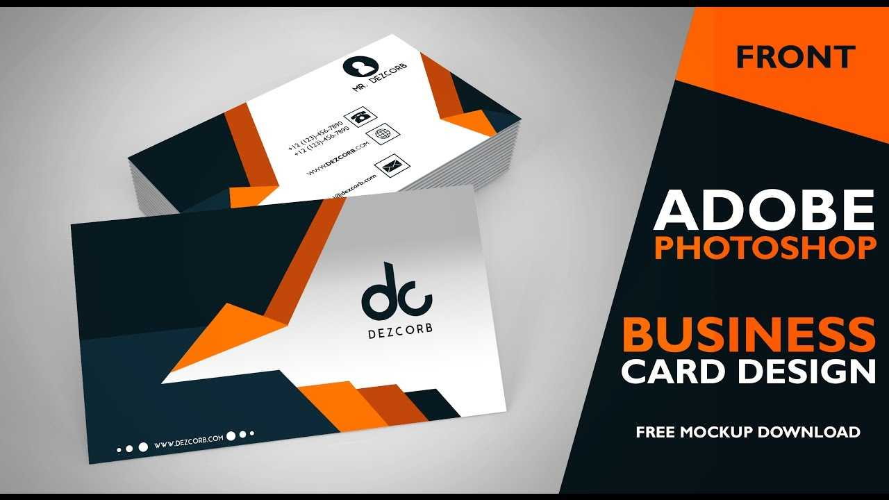 Business Card Design In Photoshop Cs6   Front   Photoshop Tutorial Inside Business Card Template Photoshop Cs6
