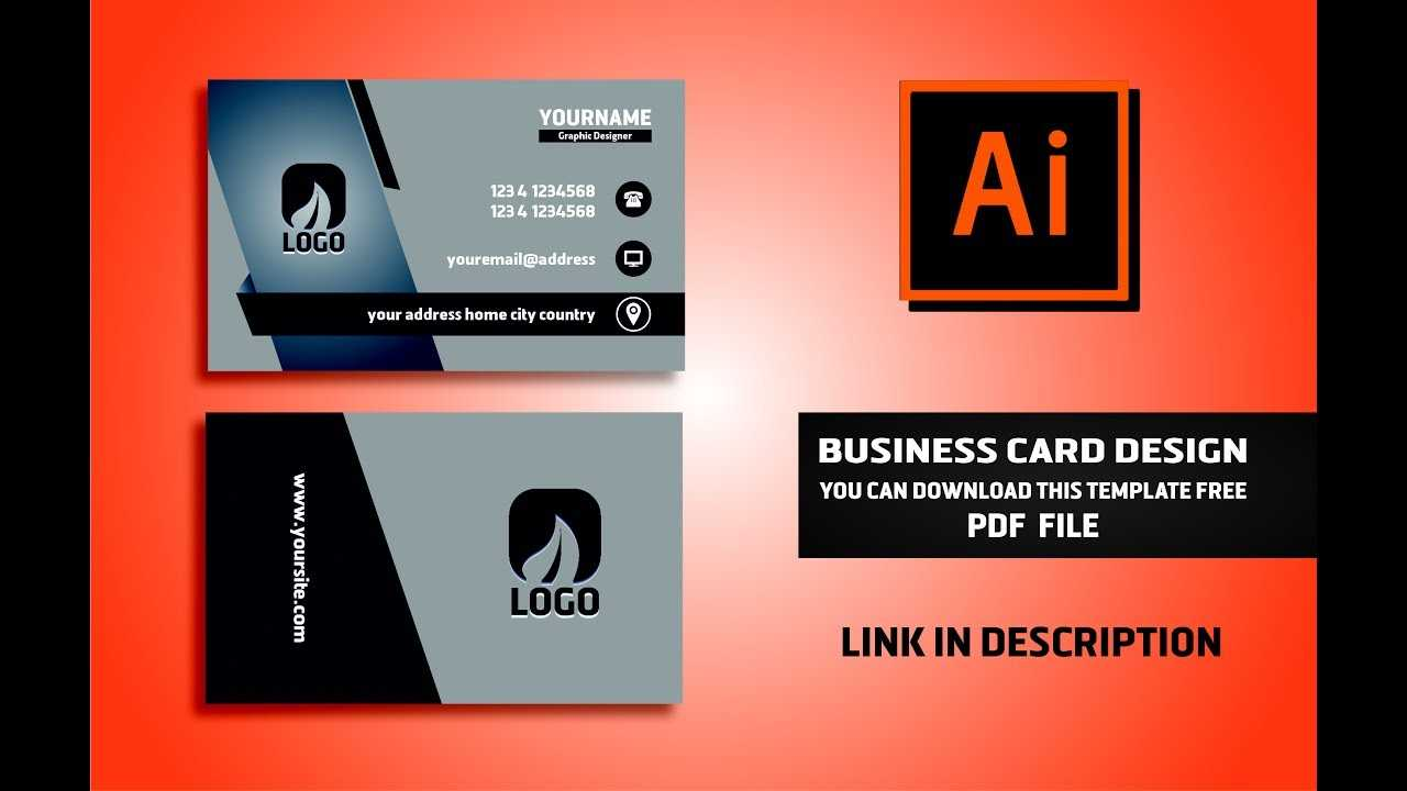 Business Card Design Vector File Free Download | Illustrator Cc Tutorial  2017 Intended For Visiting Card Illustrator Templates Download