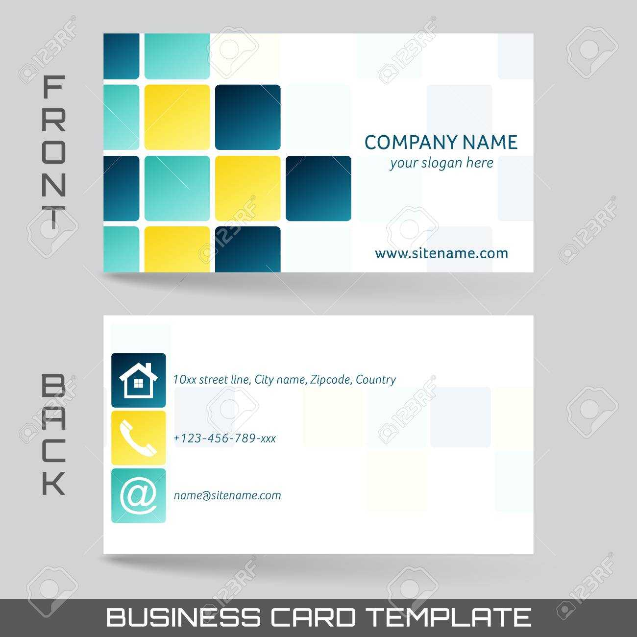 Business Card Front And Back Microsoft Word Template In Front And Back Business Card Template Word