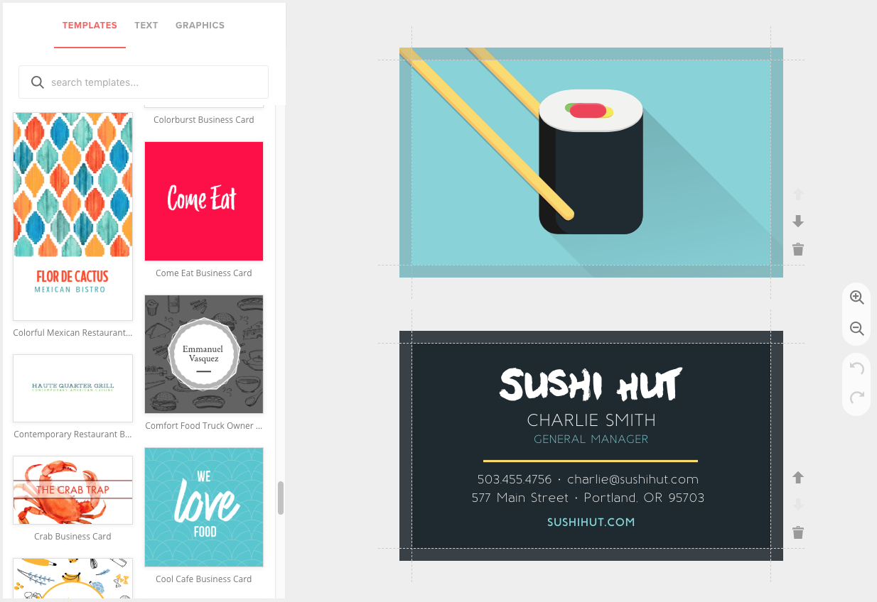 Business Card Maker, Custom & Pro Quality - Musthavemenus With Business Card Maker Template