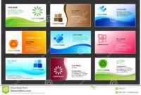 Business Card Template Design Stock Vector – Illustration Of regarding Calling Card Free Template