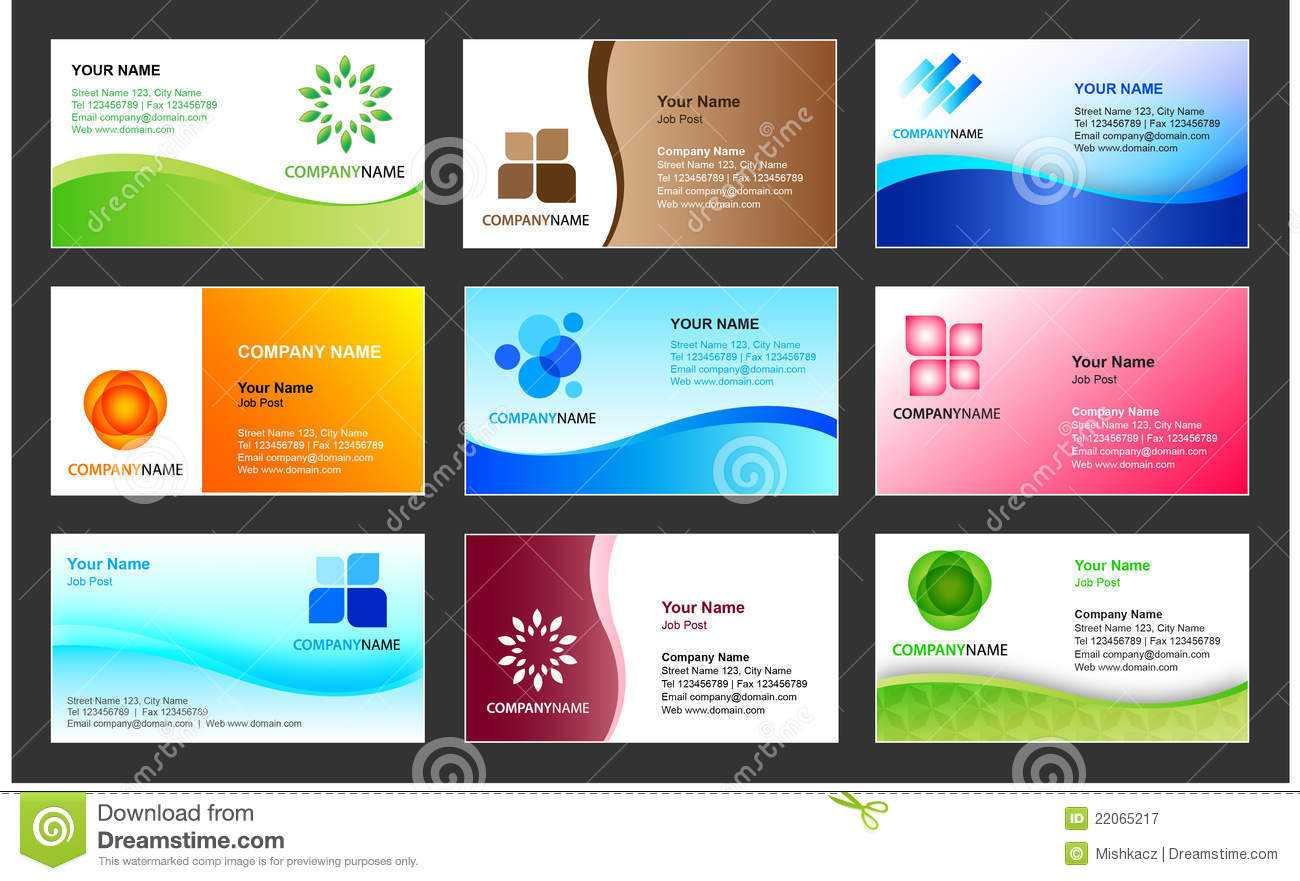 Business Card Template Design Stock Vector - Illustration Of Regarding Calling Card Free Template