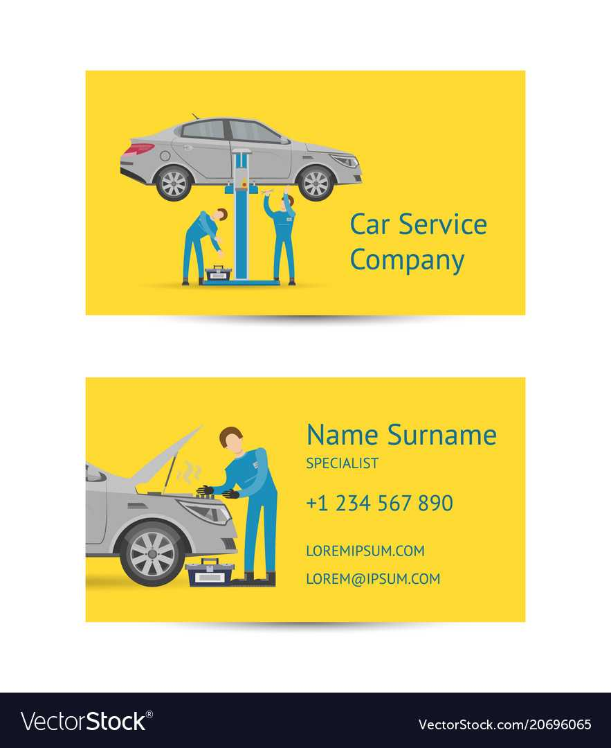 Business Card Template For Auto Service with regard to Automotive Business Card Templates