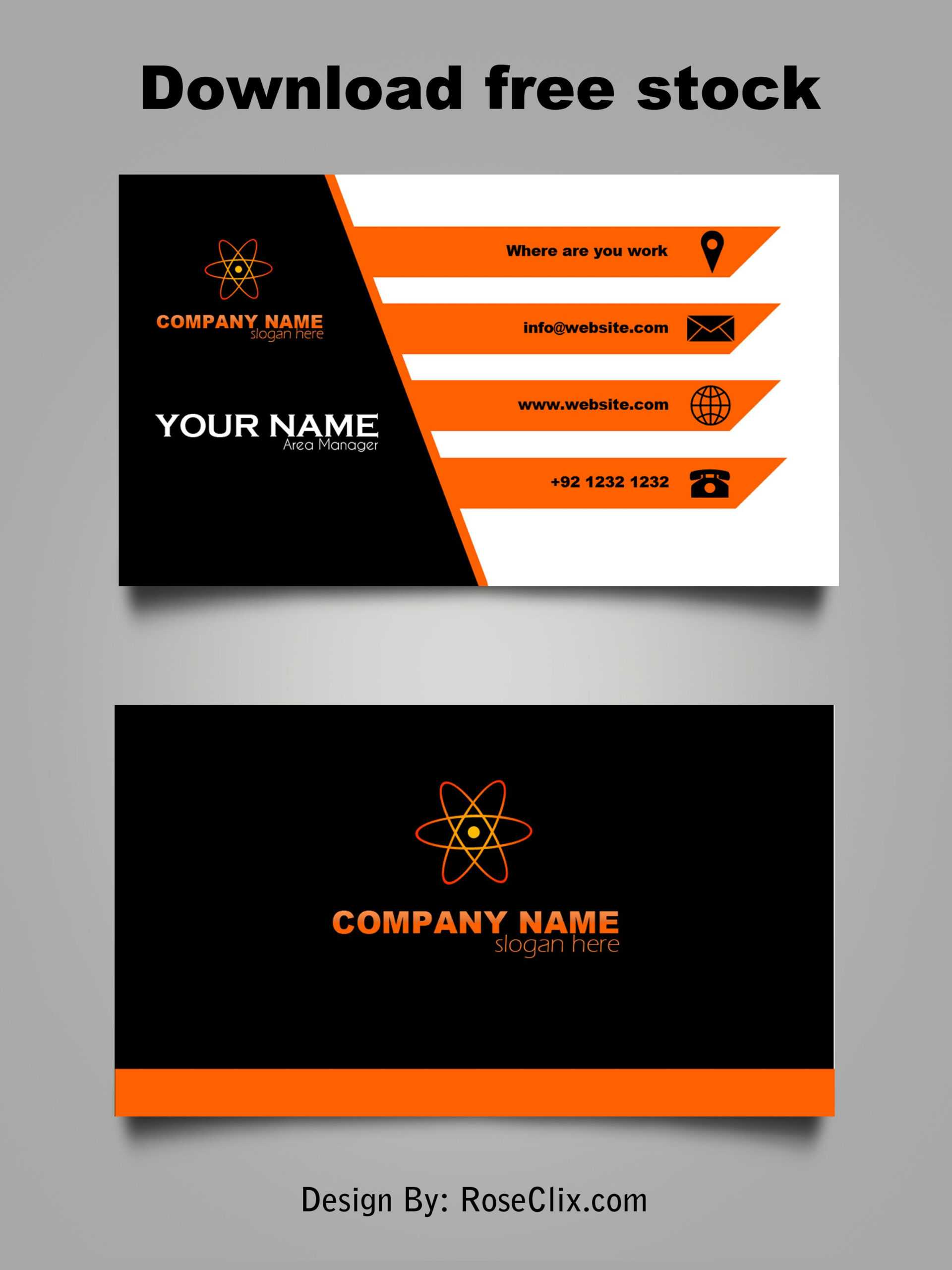 Business Card Template Free Downloads Psd Fils. In 2019 Regarding Templates For Visiting Cards Free Downloads