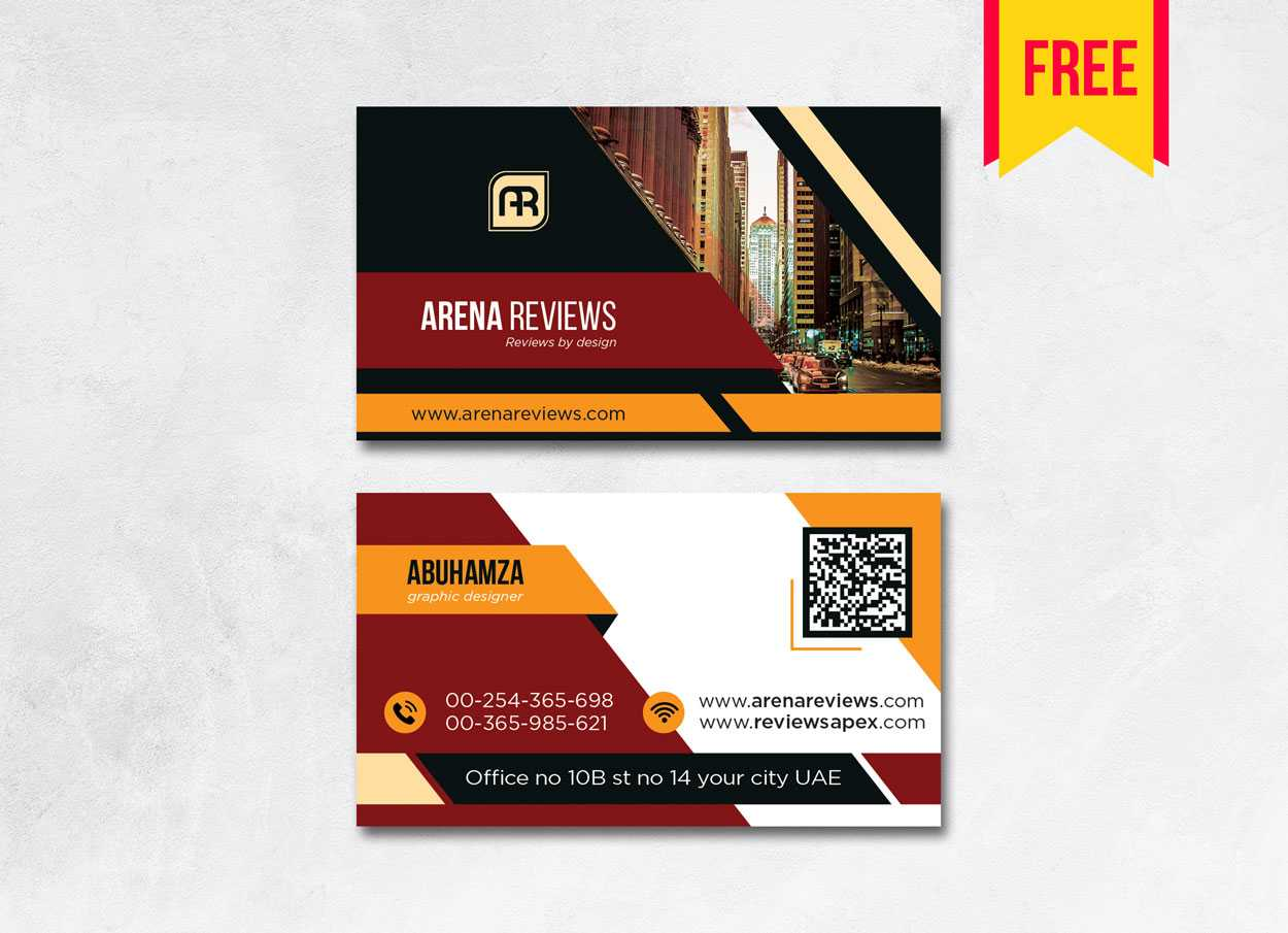 Business Card Template Psd & Ai Format Free Download with Name Card Design Template Psd