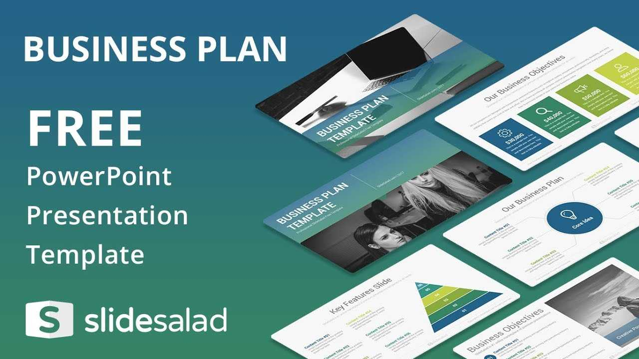 Business Plan Free Powerpoint Template Design - Slidesalad intended for Business Card Template Powerpoint Free