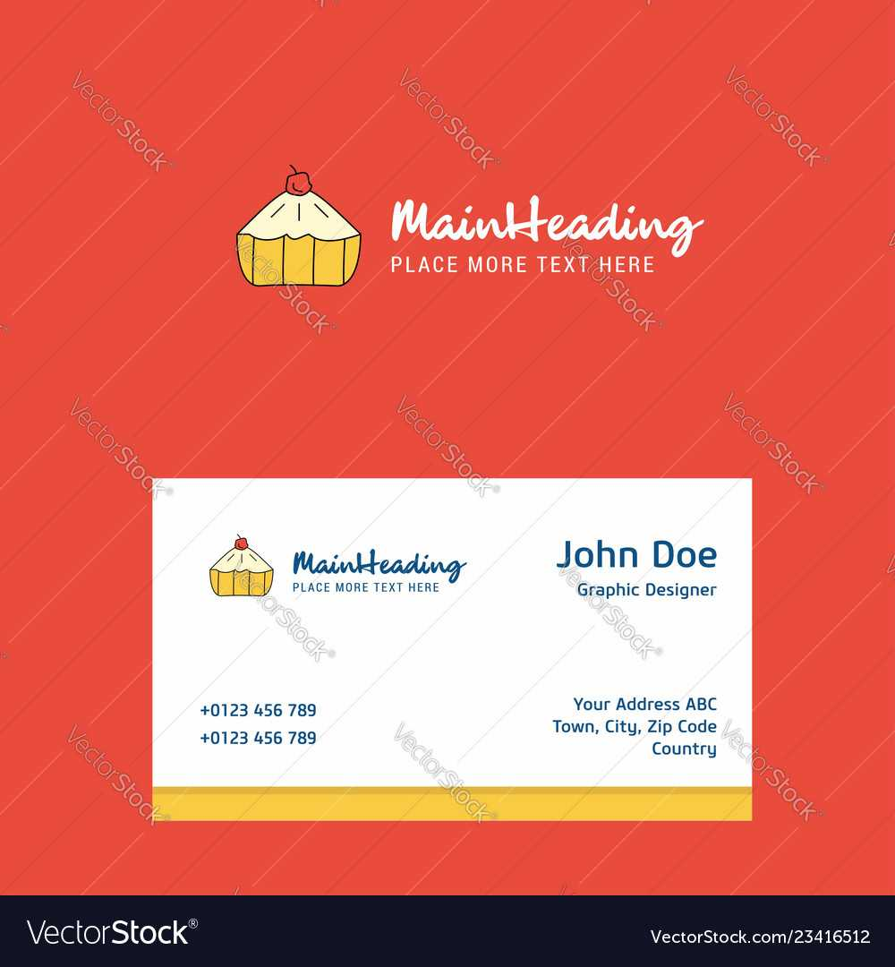 Cake Logo Design With Business Card Template Throughout Cake Business Cards Templates Free