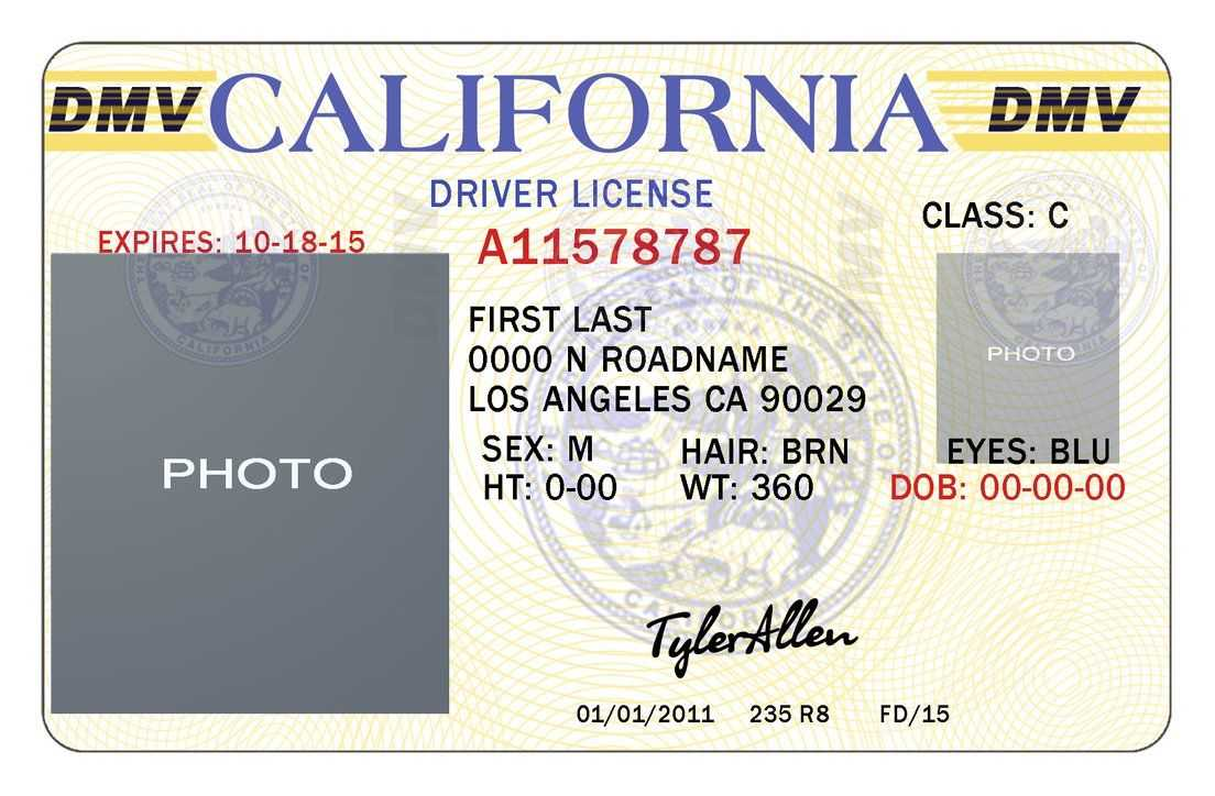 California Drivers Licensetylerallen Dwa Perfect With Regard To Blank Drivers License Template