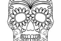 Candy Skull Drawing | Free Download Best Candy Skull Drawing for Blank Sugar Skull Template