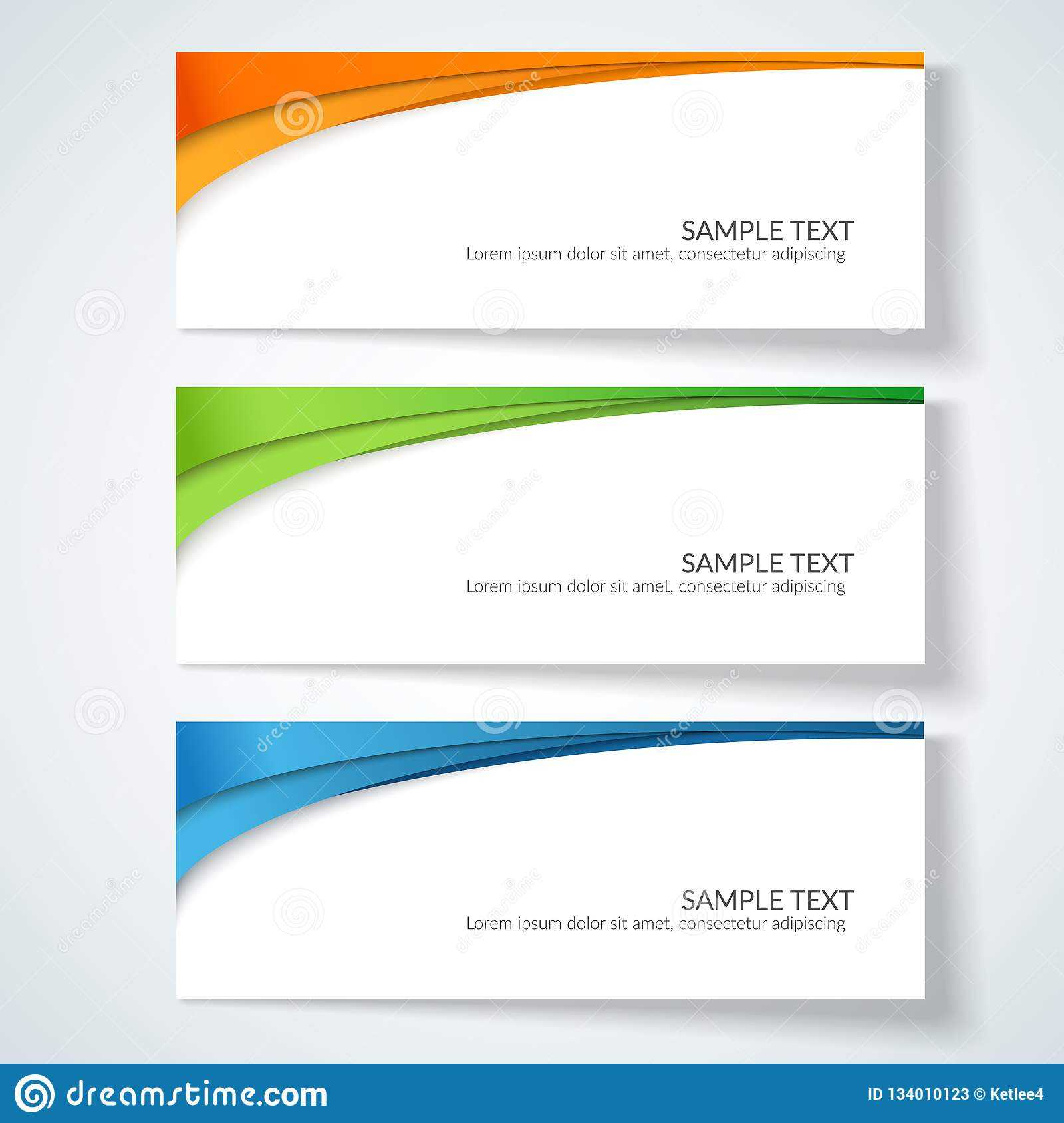 Card With Abstract Wavy Lines Orange Blue Green Stripes With Advertising Card Template