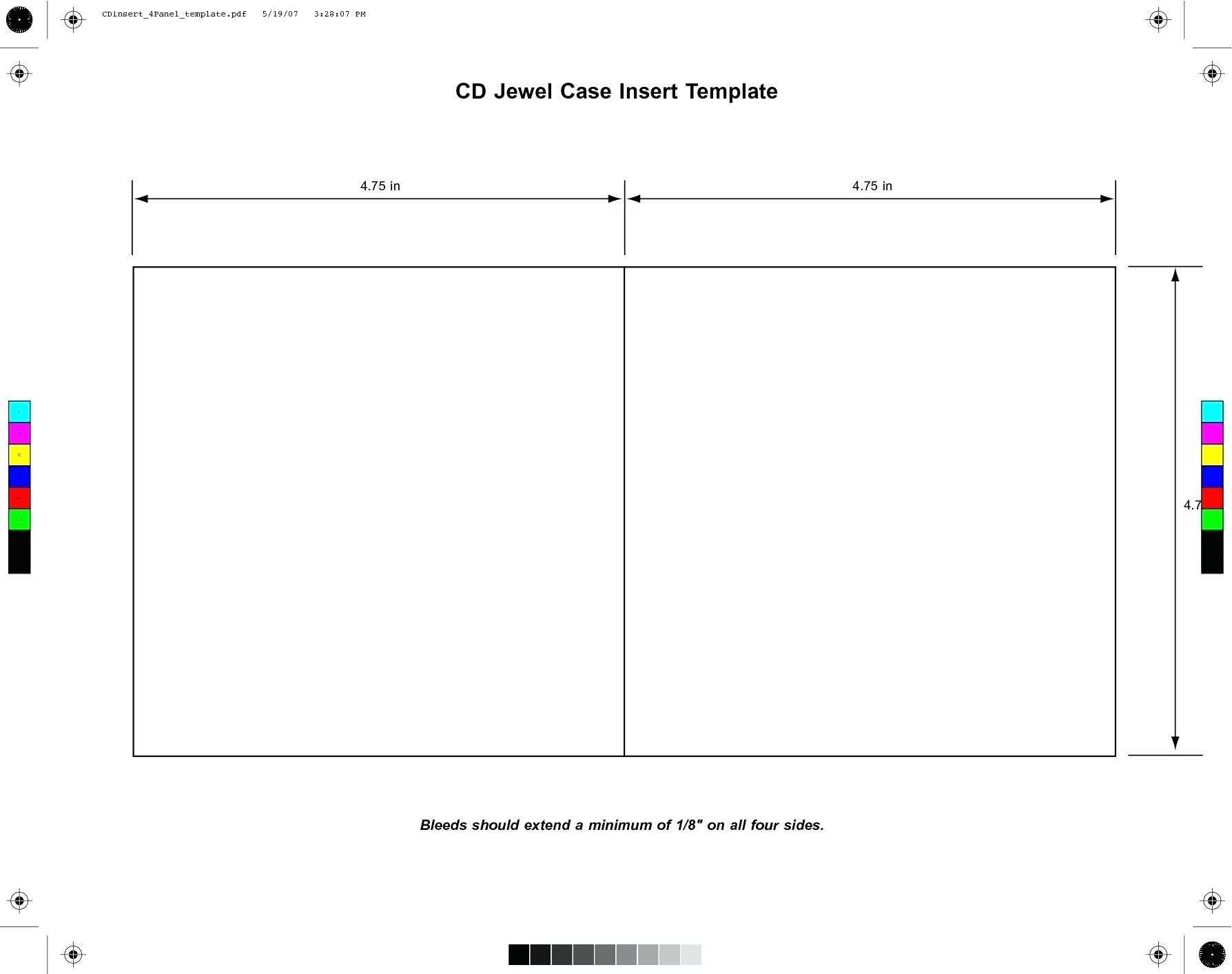 Cd Case Cover Template Word throughout Blank Cd Template Word