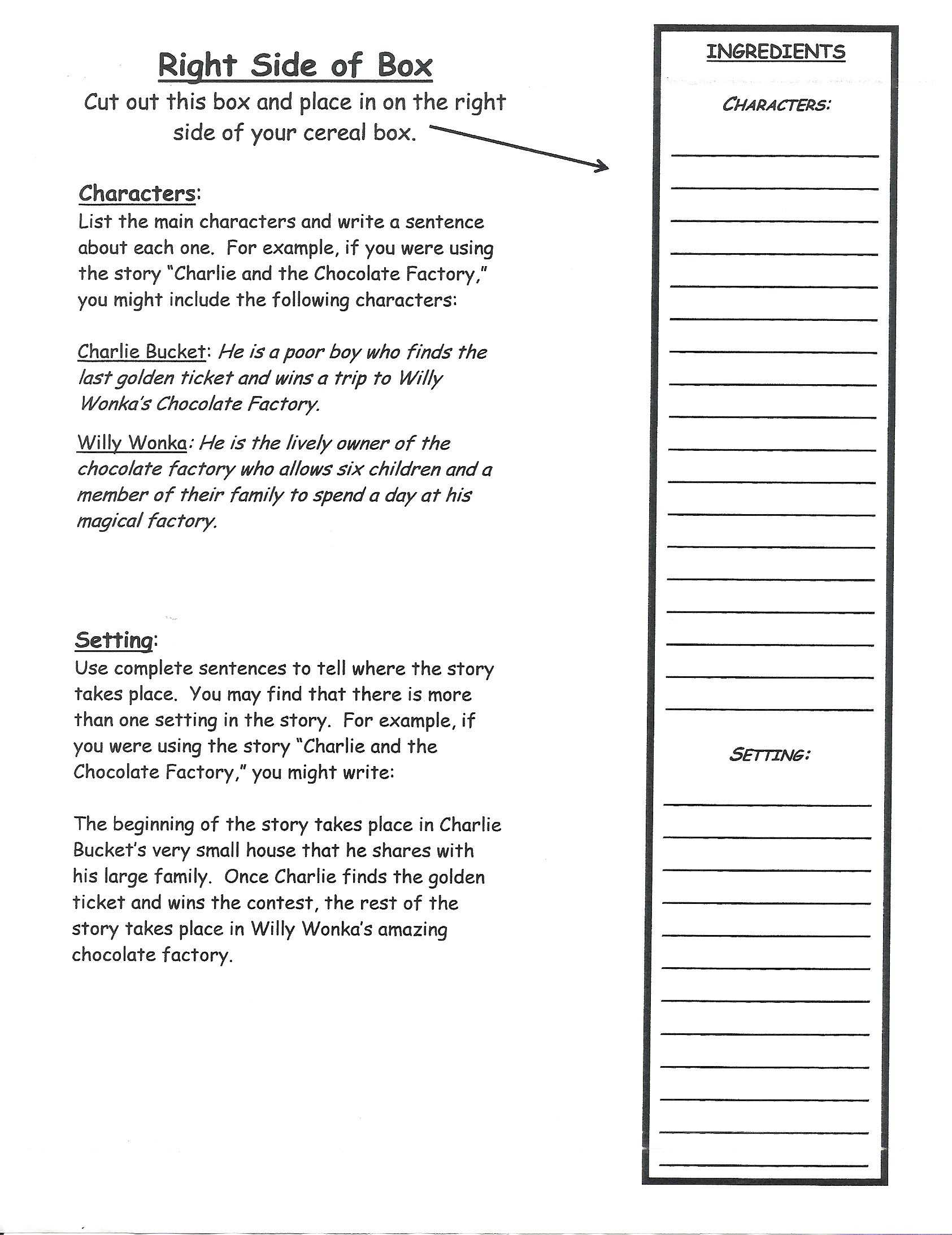 Cereal Box Book Report | Book Report Templates, Book Report With Cereal Box Book Report Template