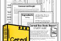 Cereal Box Book Report Kit | Book Report Projects, Book in Cereal Box Book Report Template