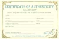 Certificate Authenticity Template Art Authenticity In Art Certificate Template Free