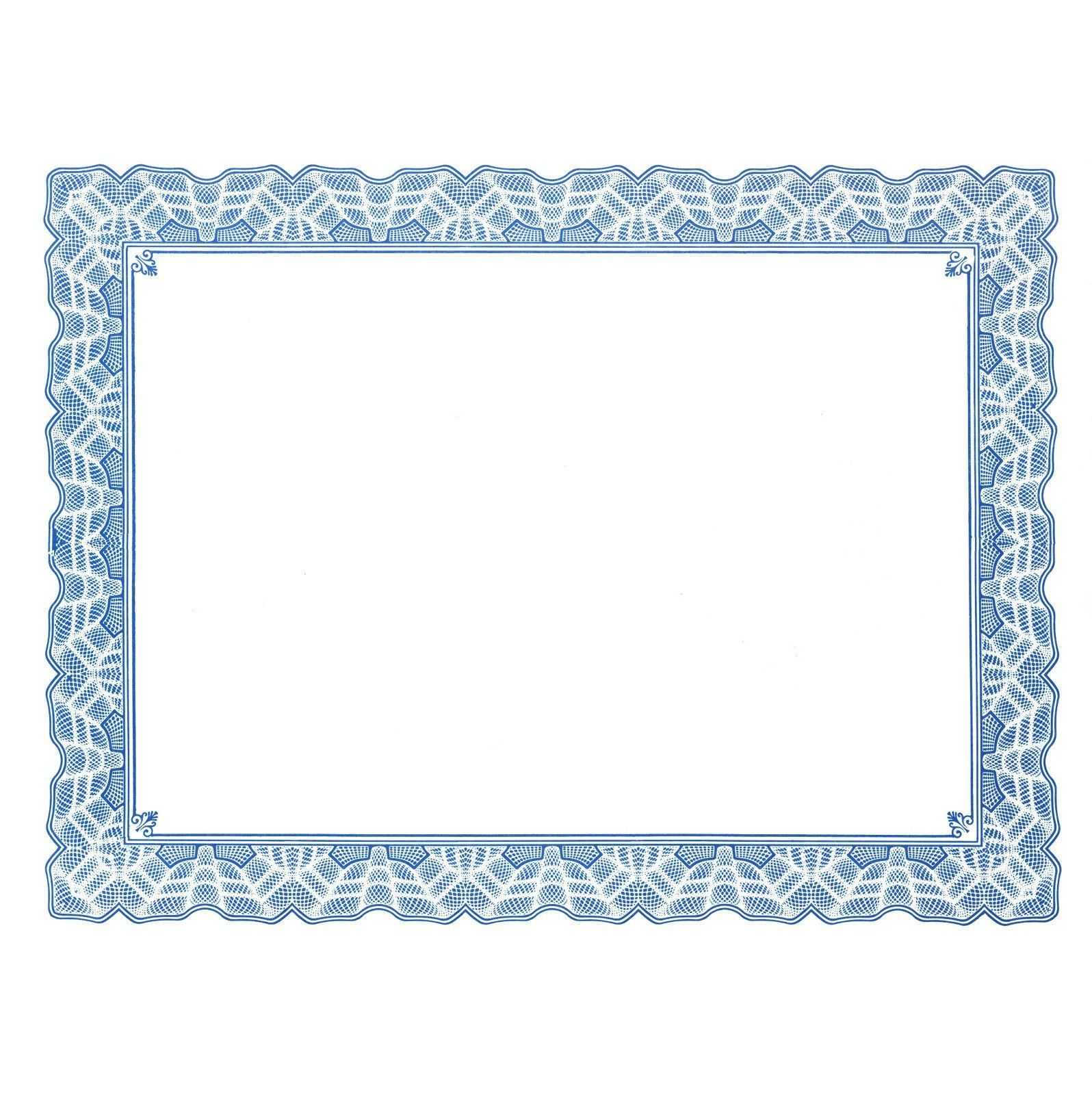 Certificate Border Templates For Word  In 2019 In Free Printable Certificate Border Templates