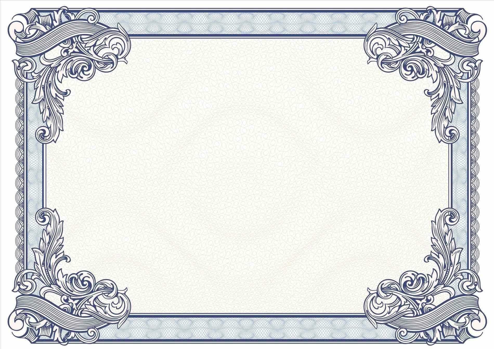 Certificate Borders Design Unique Certificate Border Design In Certificate Border Design Templates