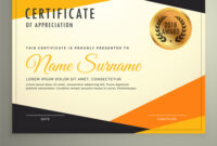 Certificate Design Template With Clean Modern throughout Design A Certificate Template