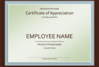 Certificate Of Appreciation Template In Powerpoint | Free pertaining to Award Certificate Template Powerpoint